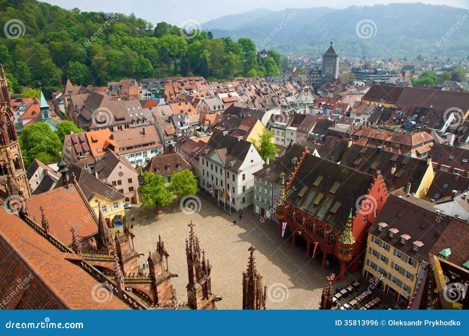 Buildings In Freiburg Im Breisgau City Germany Royalty