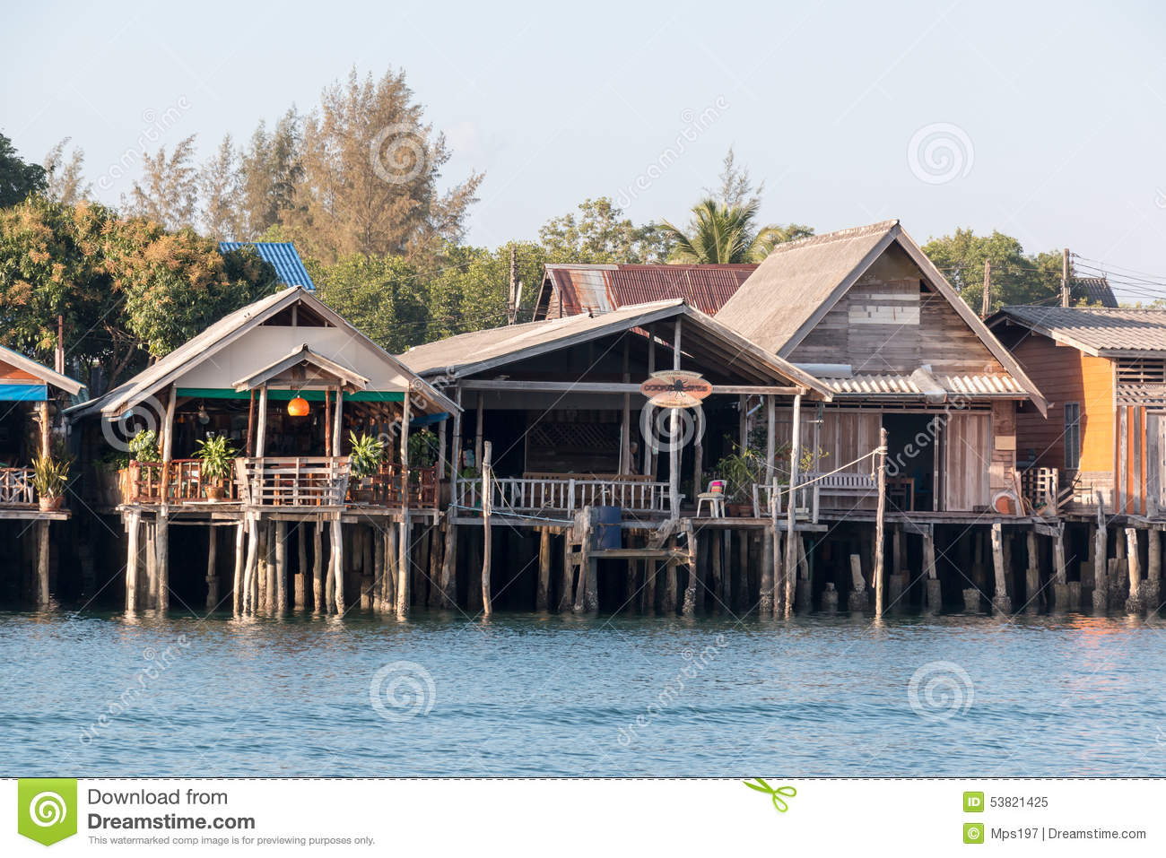 Buildings Have Been Built On Piers Over Water At