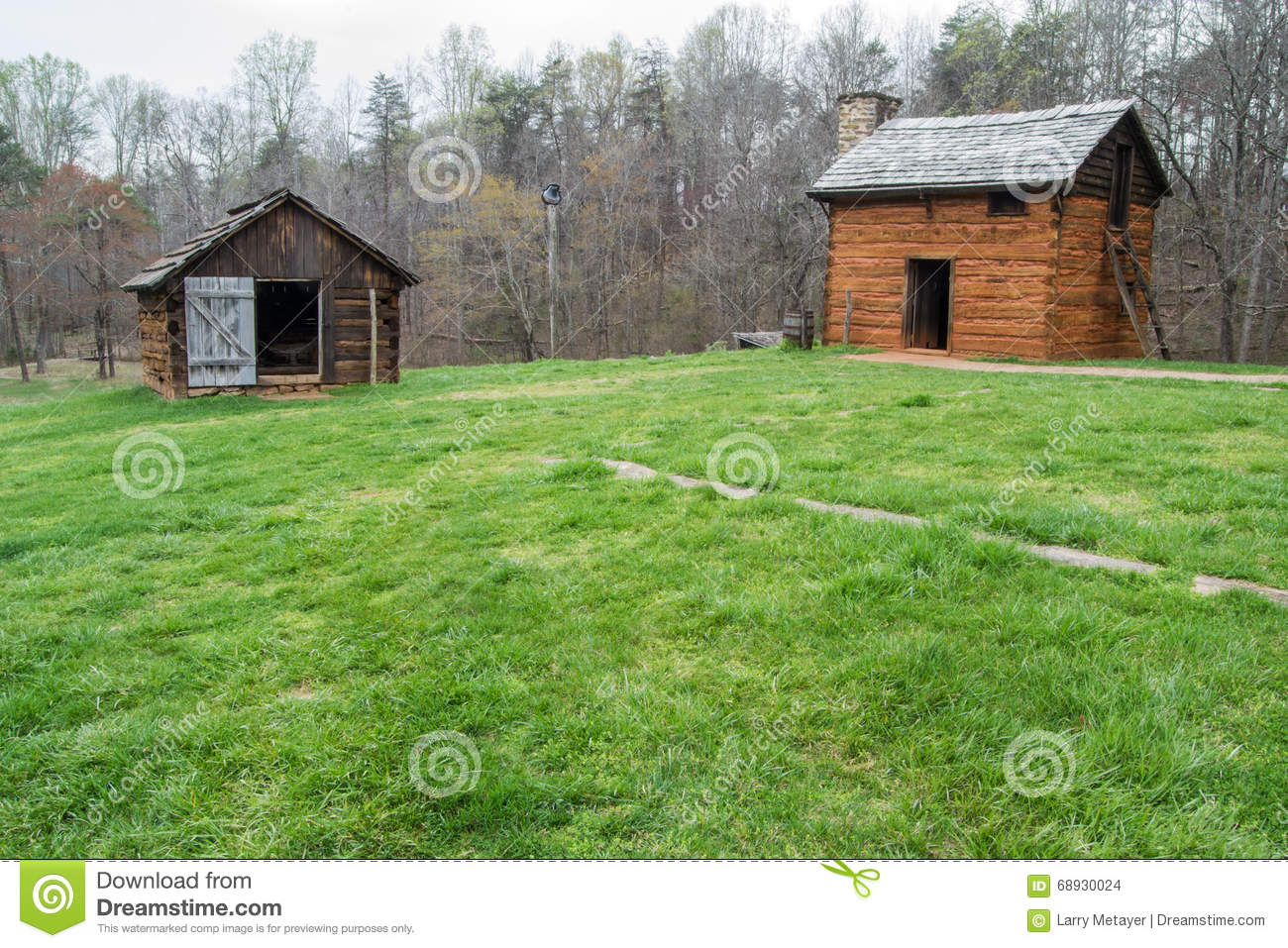 Buildings Located on the Grounds of Booker T. Washington National Monument