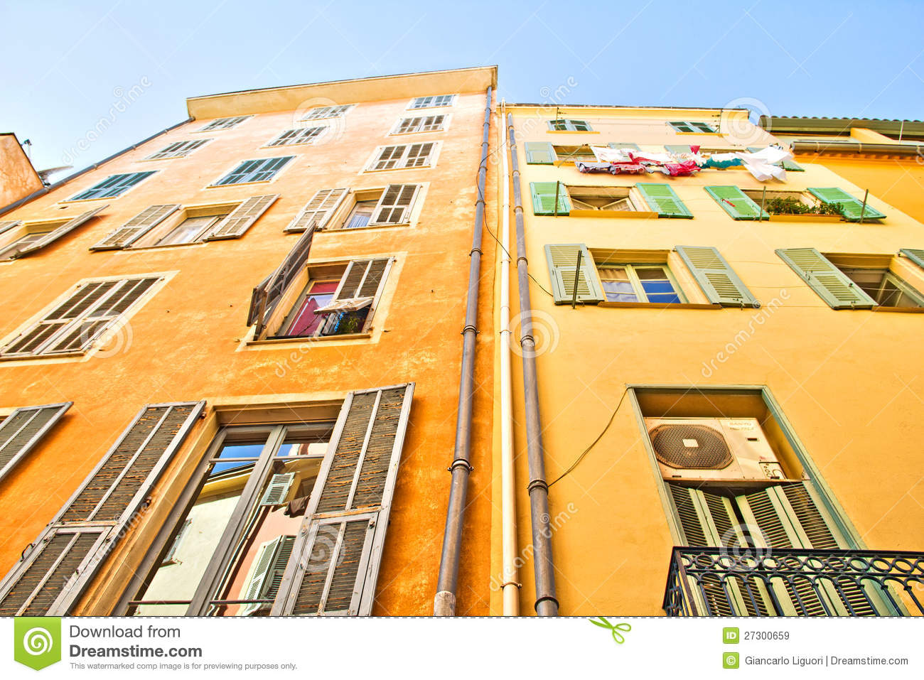 Buildings in nice french riviera royalty free stock for Nice building images