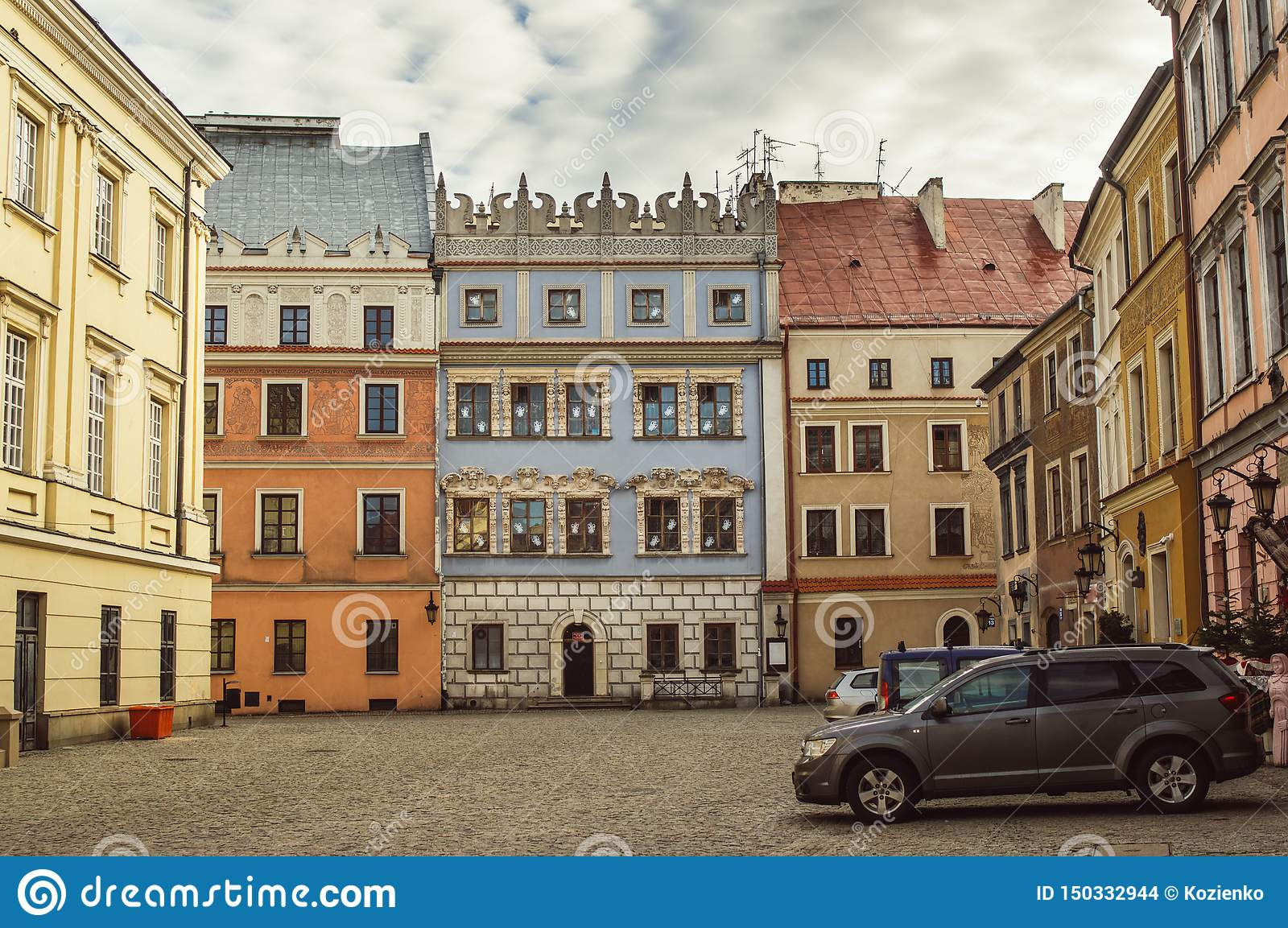 Buildings in the old center of Lublin, Poland