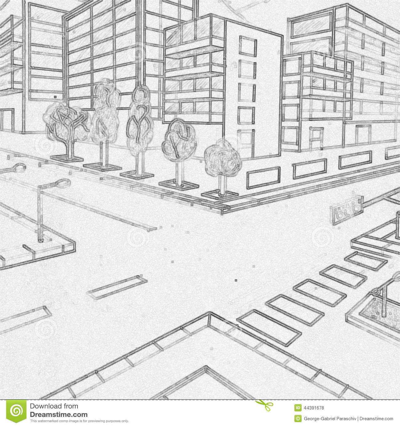 perspective drawings of buildings.  Buildings Download Buildings Pencil Drawing Made By A 5th Grader Stock Illustration   Of Background For Perspective Drawings Of R