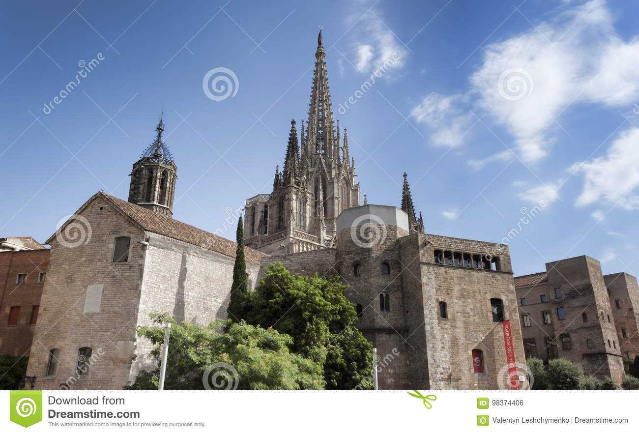 Buildings of the Roman Fort near the Metropolitan Cathedral Basilica of Barcelona