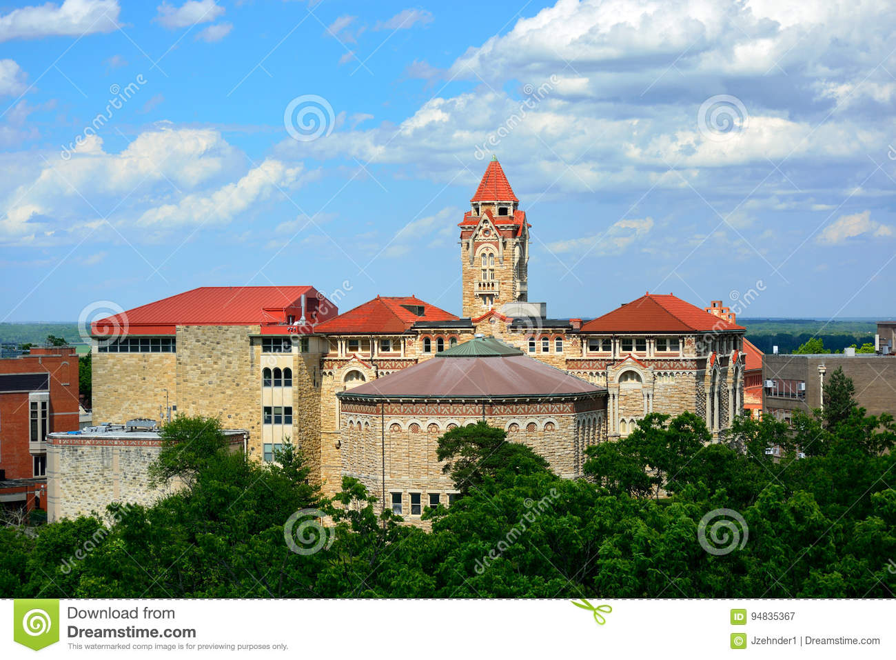 Buildings on the University of Kansas Campus in Lawrence, Kansas