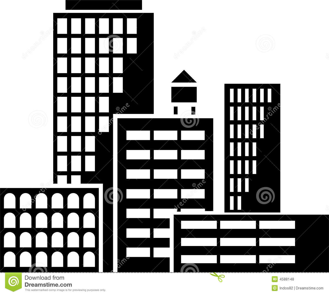 Buildings Vector Royalty Free Stock Photos Image 4588148
