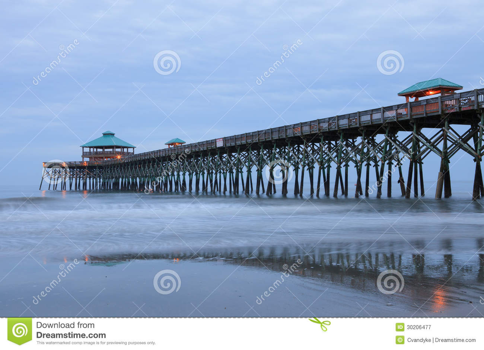 Charleston Folly Beach SC Pier South Carolina