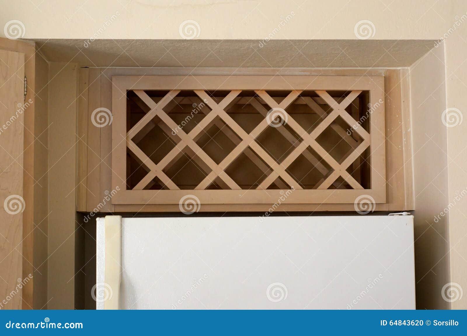 Built In Wine Rack Stock Photo Image Of Kitchen Built
