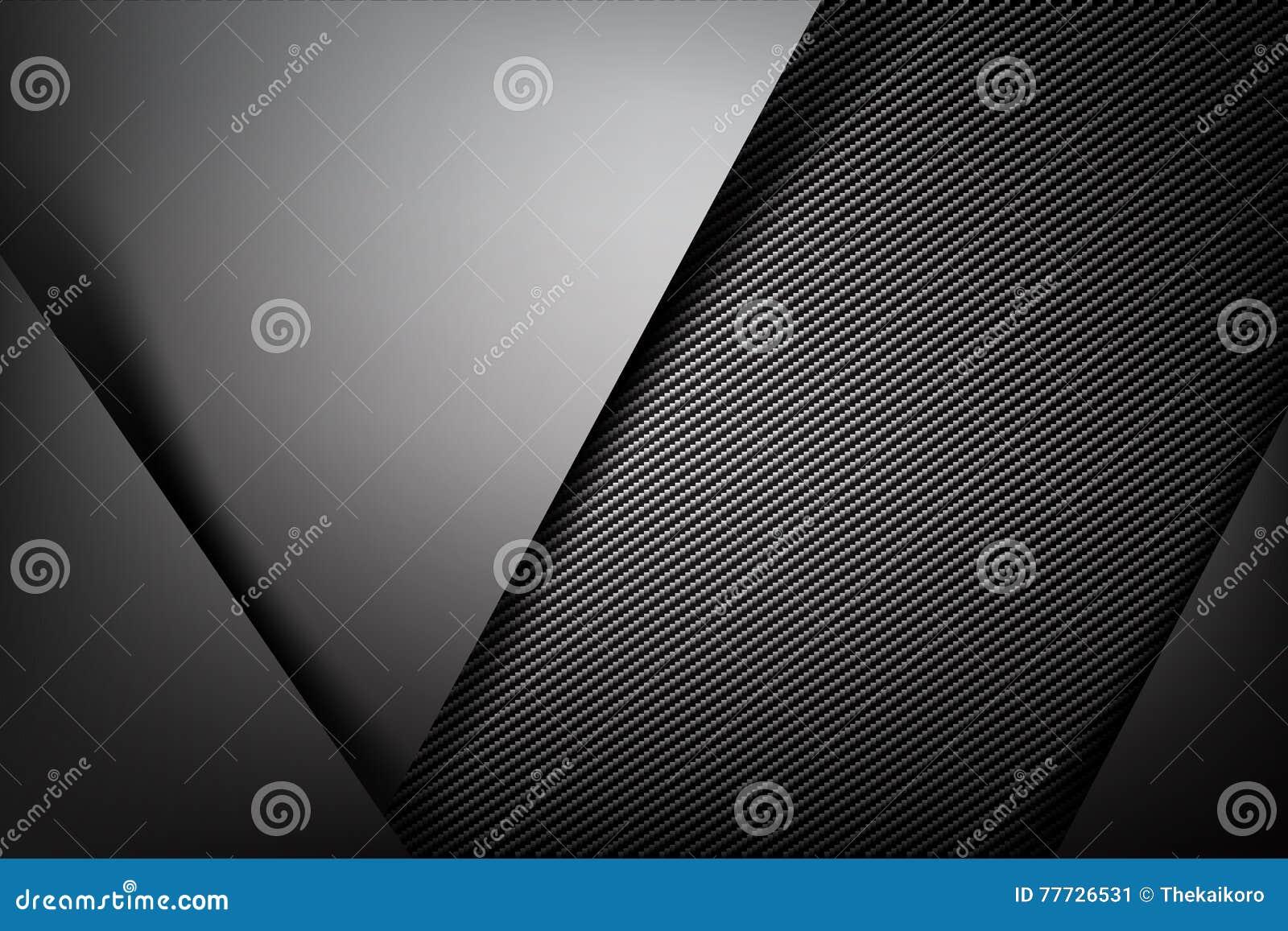 Buio astratto del fondo con il illust di vettore di struttura della fibra del carbonio