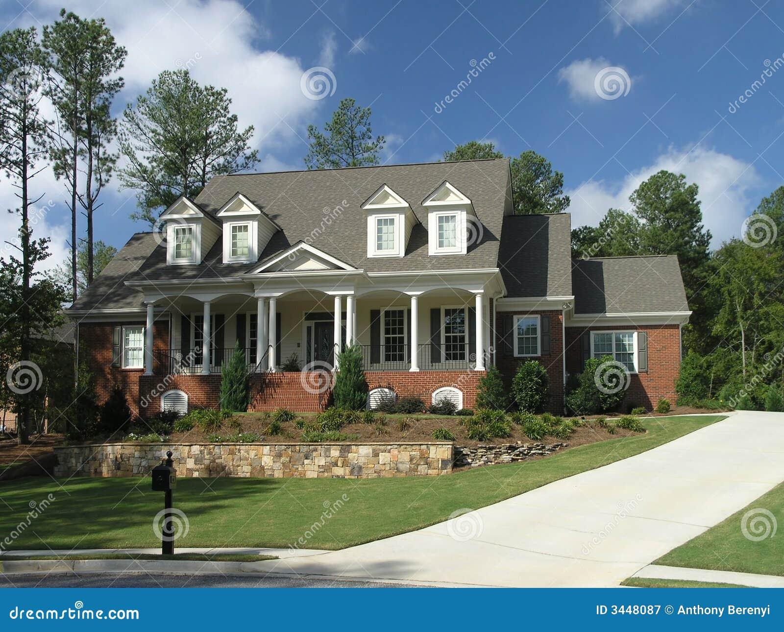 Buitenkant 32 van het huis van de luxe royalty vrije stock fotografie afbeelding 3448087 - Buitenkant thuis ...