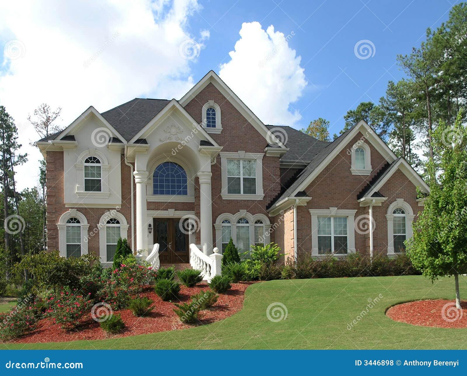 Buitenkant 39 van het huis van de luxe stock foto afbeelding 3446898 - Buitenkant thuis ...