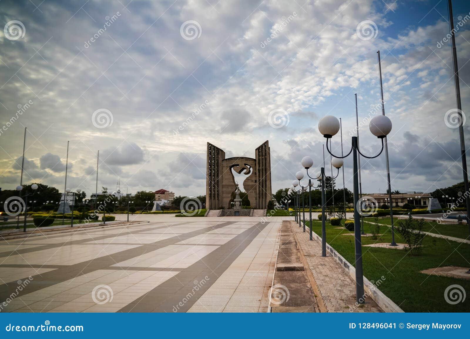 Buitenmening aan de onafhankelijkheid van Monumentende le, Lomé, Togo