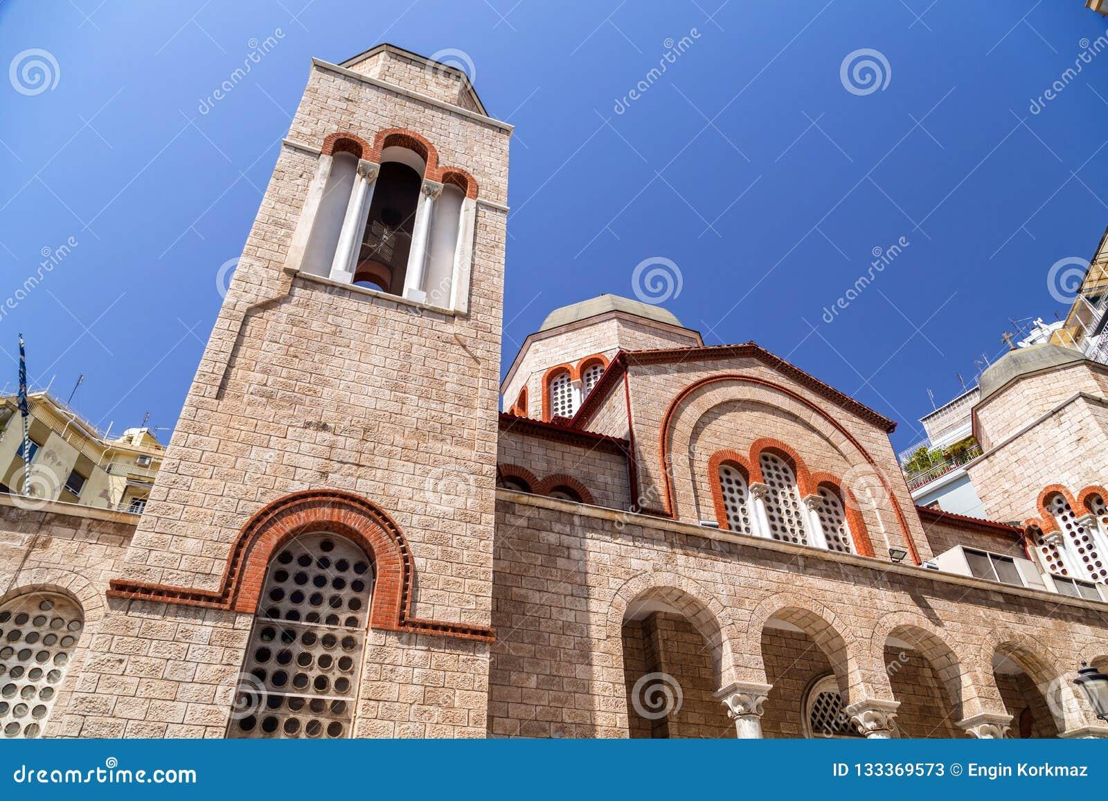 Buitenmening van kerknaos Panagia Dexia
