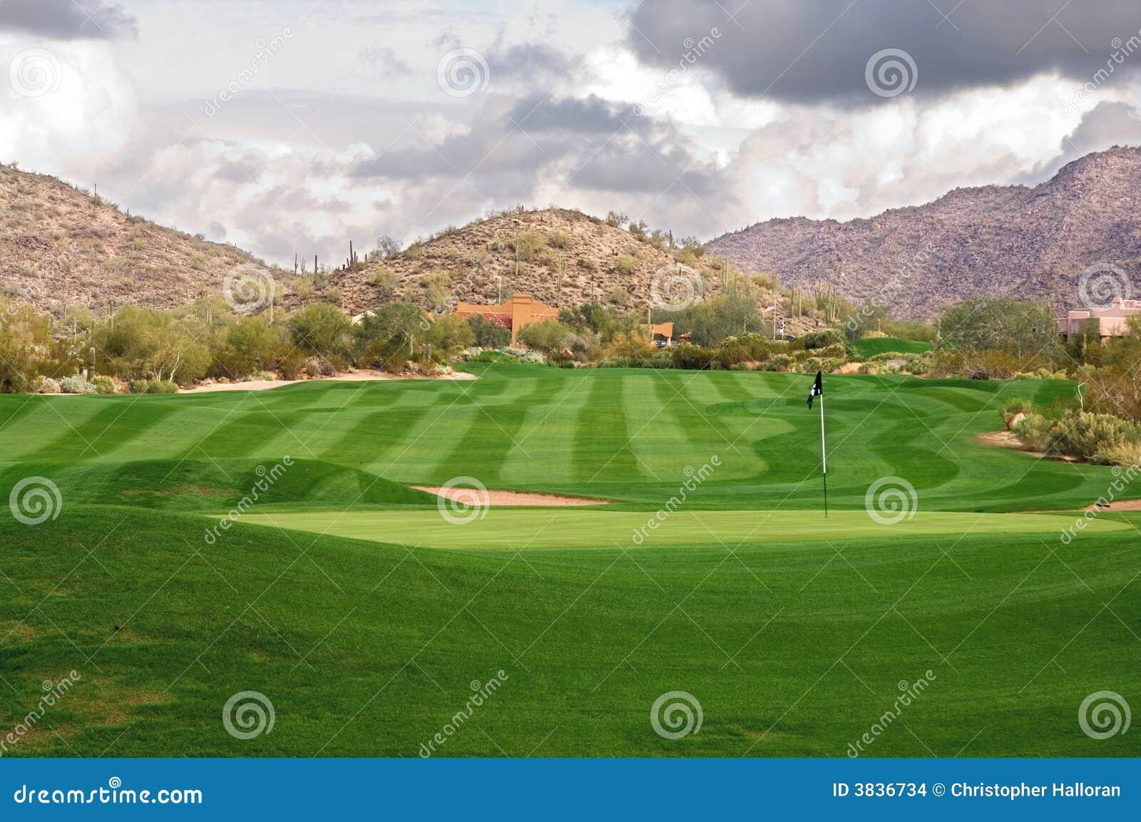Bujny kursu golfa,