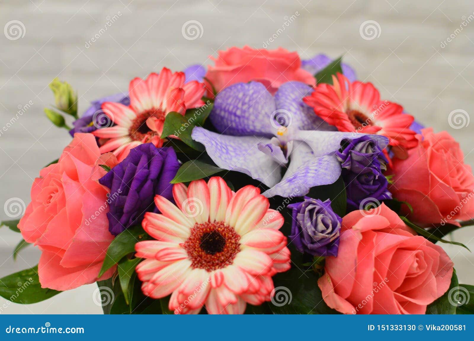 Bukett av blommor för en mors dag