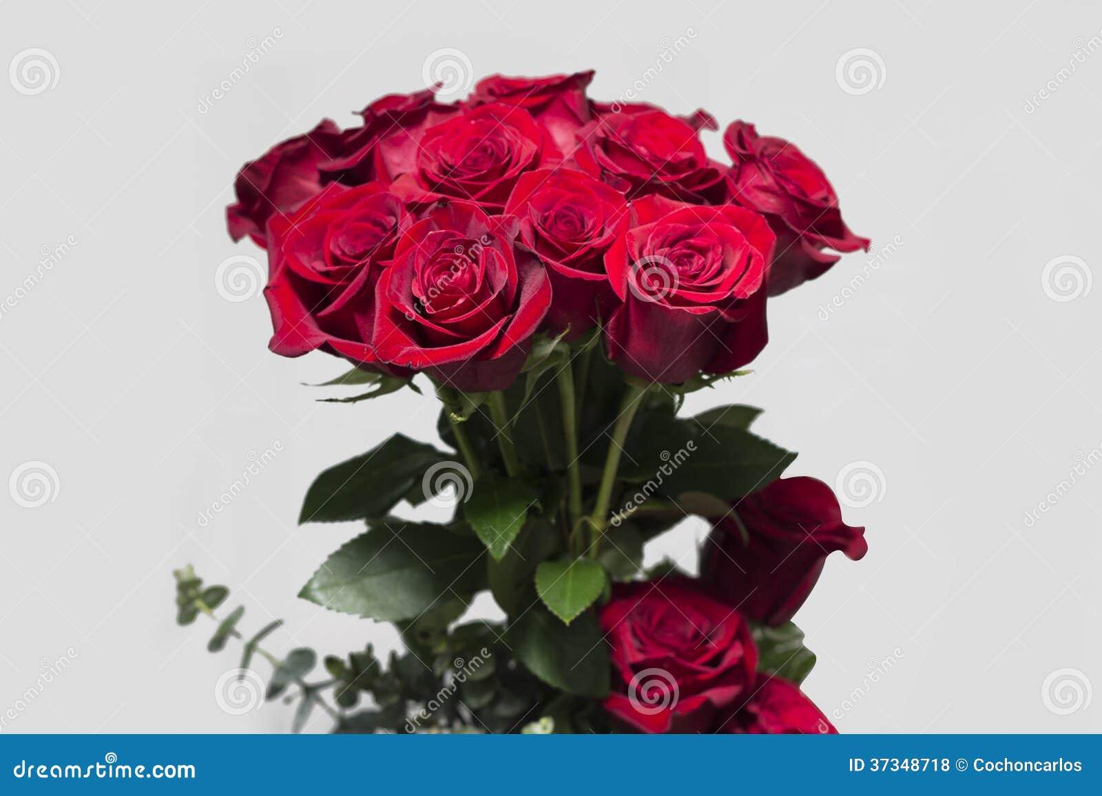 Bukett för röda rosor