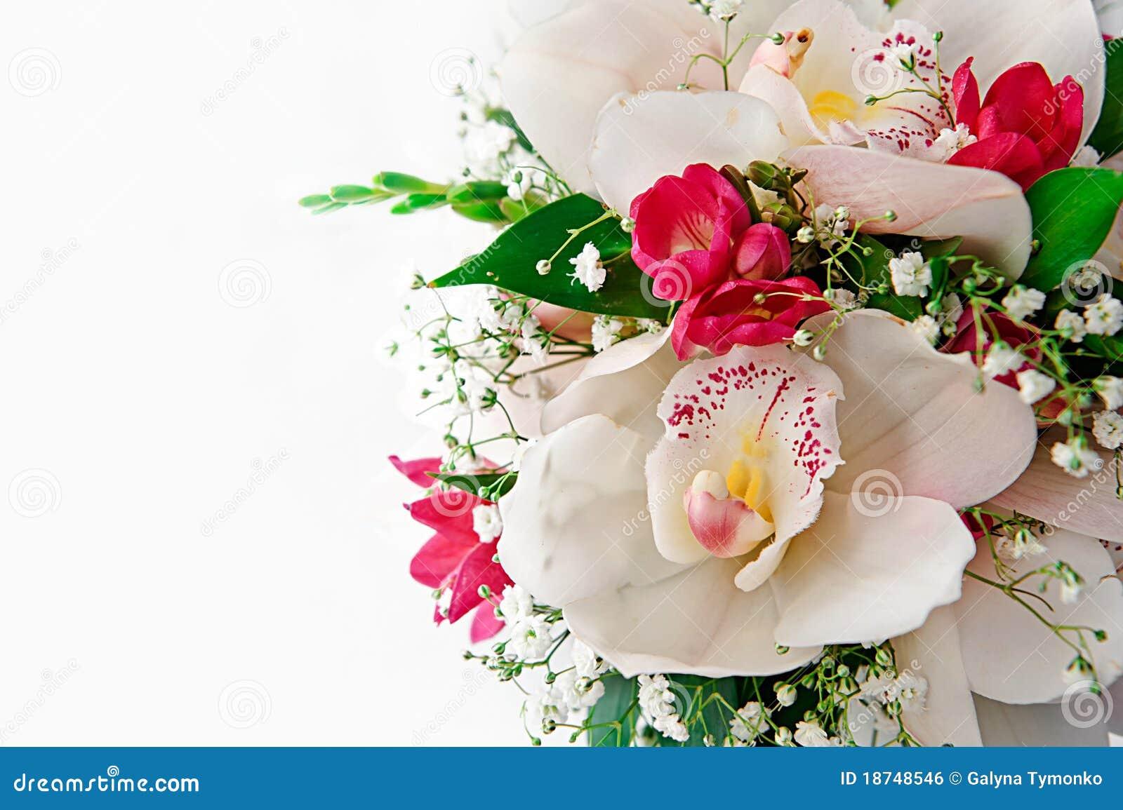 Buketten blommar bröllop