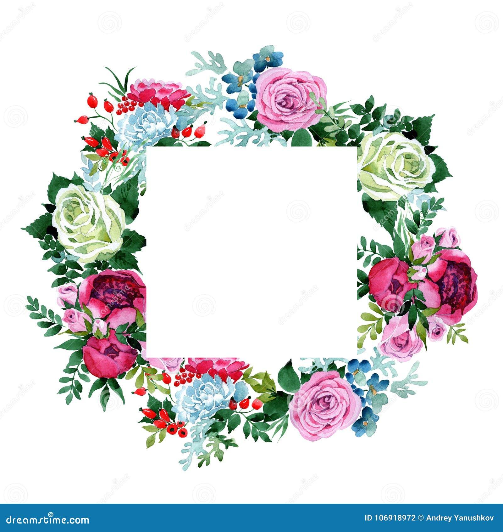 Bukieta kwiatu wianek w akwarela stylu