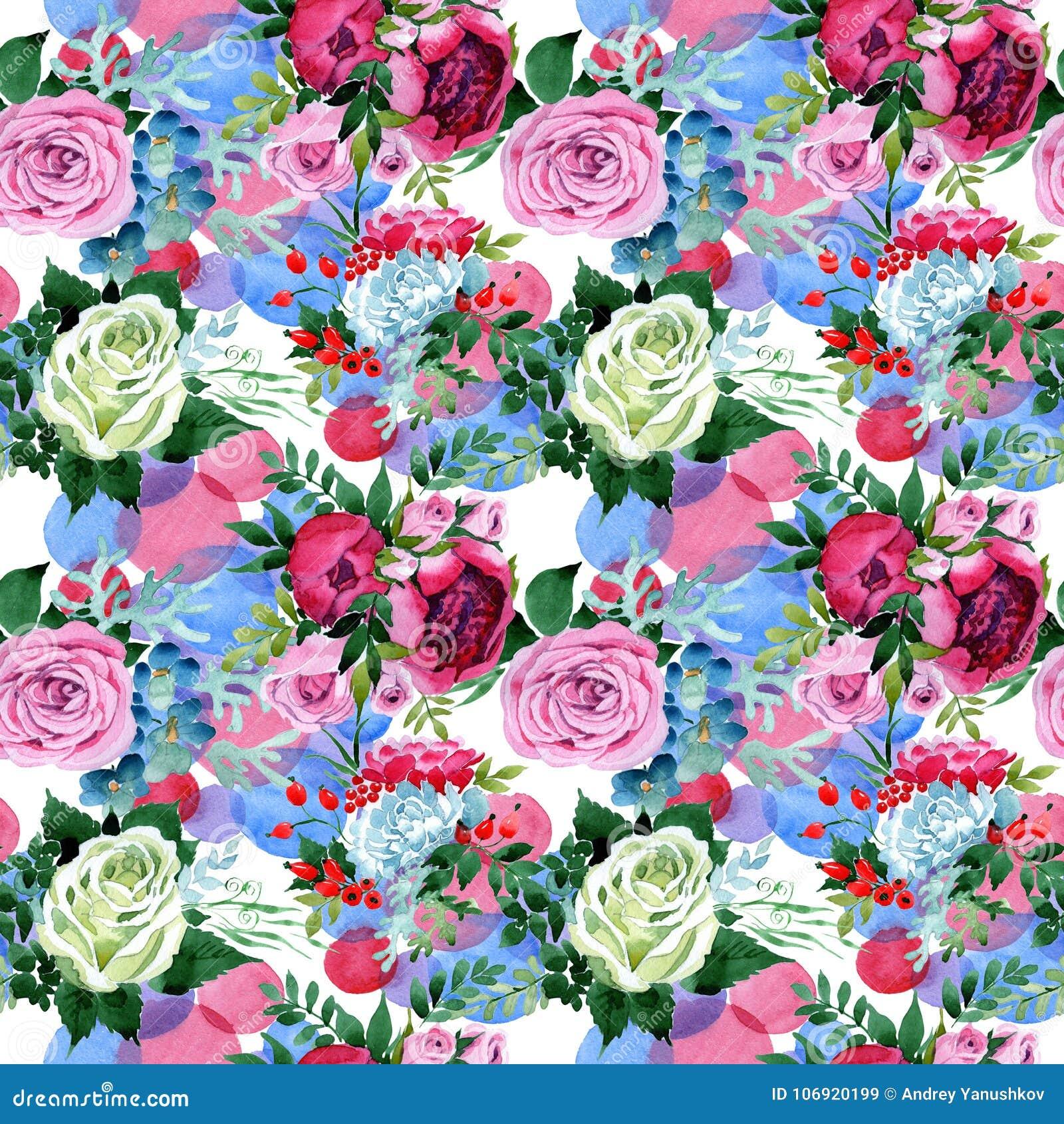 Bukieta kwiatu wzór w akwarela stylu