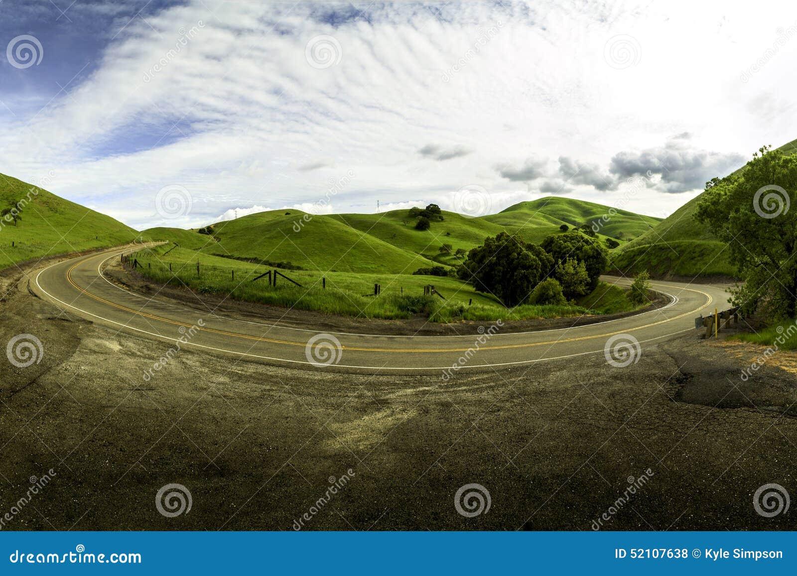 Buktig väg i Livermore Kalifornien