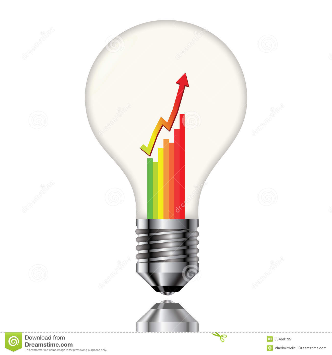 Bulb with a chart