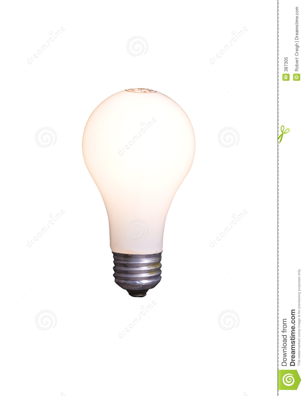 Bulb clipping isolated light path white