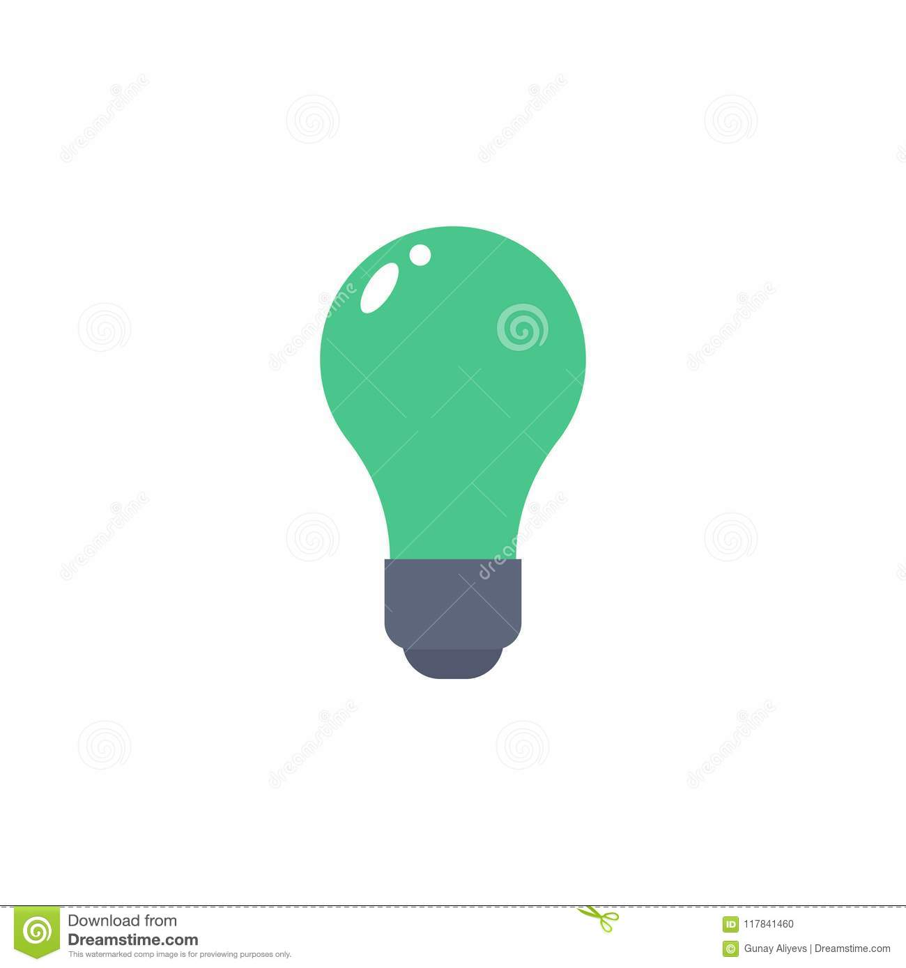 bulb colored icon. Element of school icon for mobile concept and web apps. Detailed bulb icon can be used for web and mobile. Simp