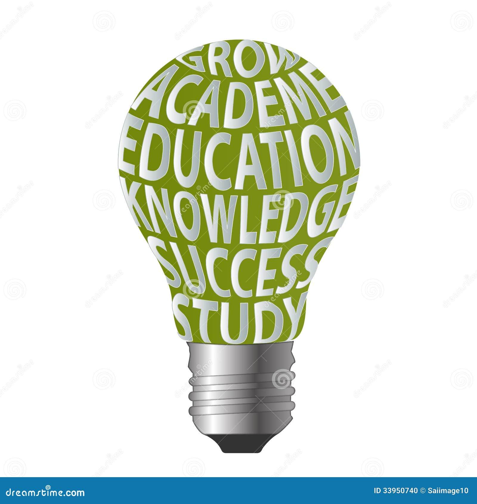 Bulb of grow academe education knowledge success s