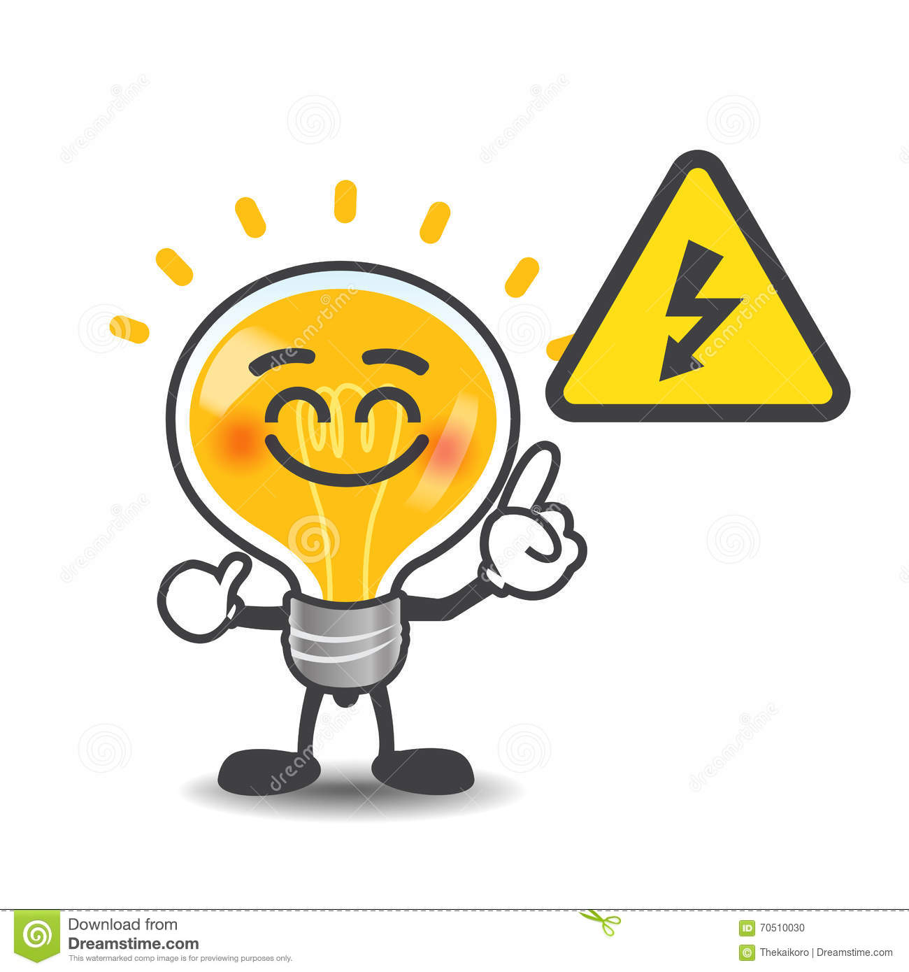 Bulb lamp cartoon pointing to electric power volt symbol isolate bulb lamp cartoon pointing to electric power volt symbol isolate biocorpaavc