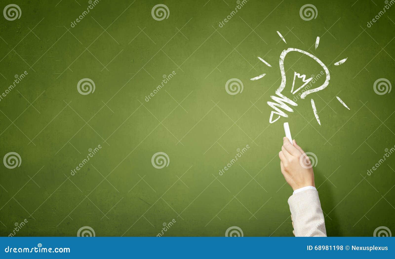Bulbo como símbolo de la gran idea