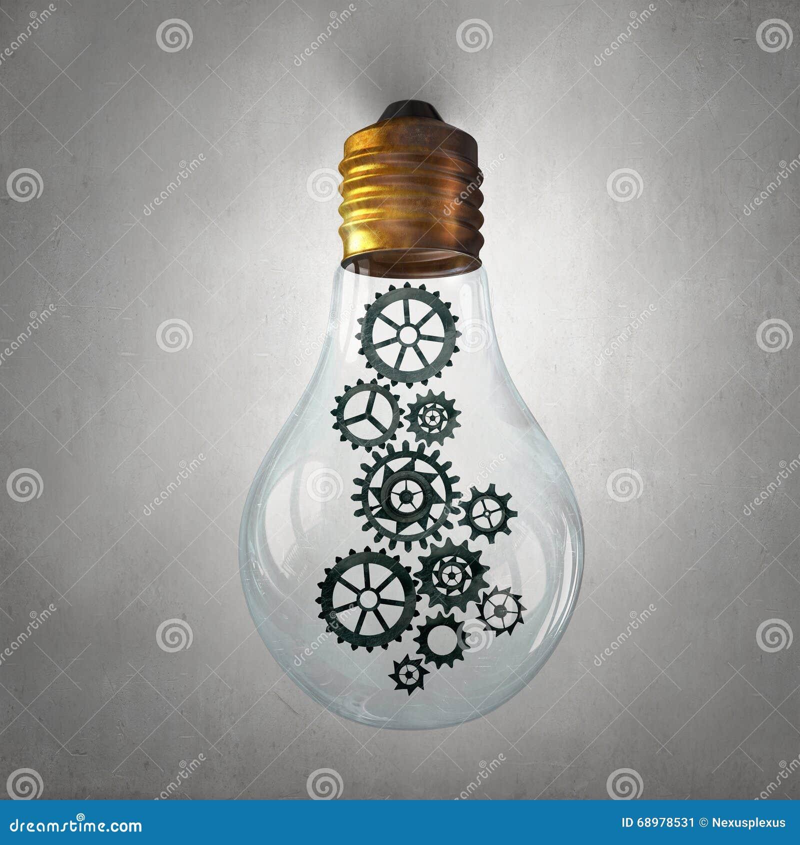 Bulbo eléctrico con las ruedas de engranaje
