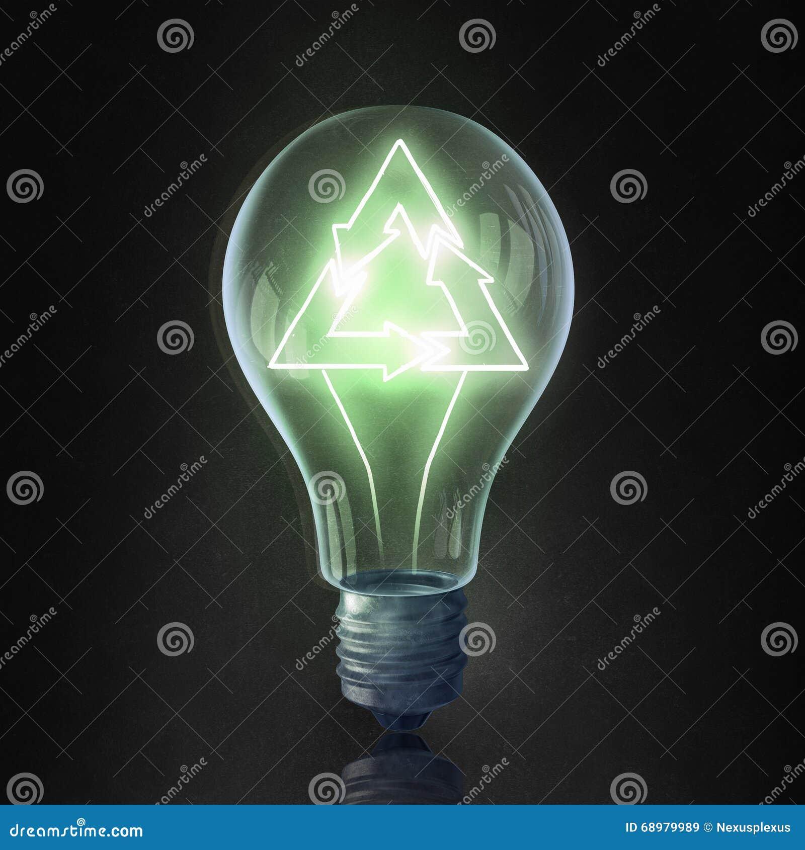 Bulbo y líneas eléctricas eléctricos de Eco