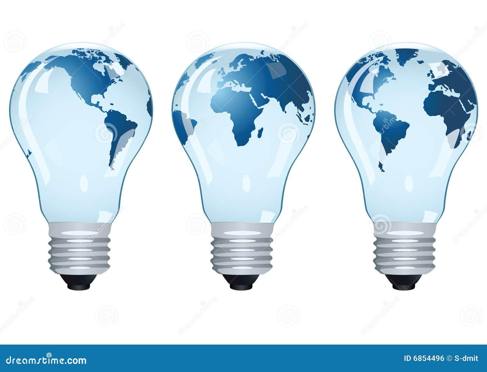 Bulbos eléctricos con las correspondencias.