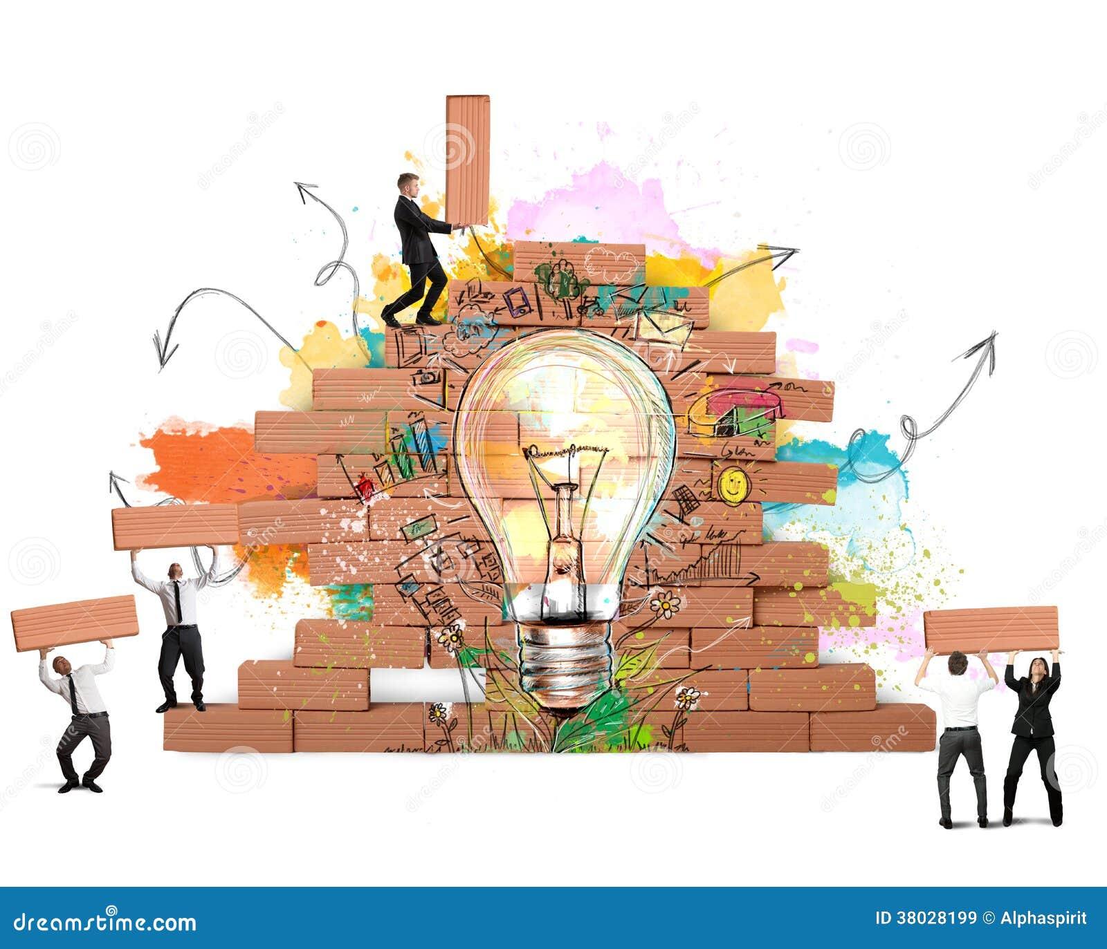 nouvel an idée Bulding Une Nouvelle Idée Créative Image stock   Image du  nouvel an idée