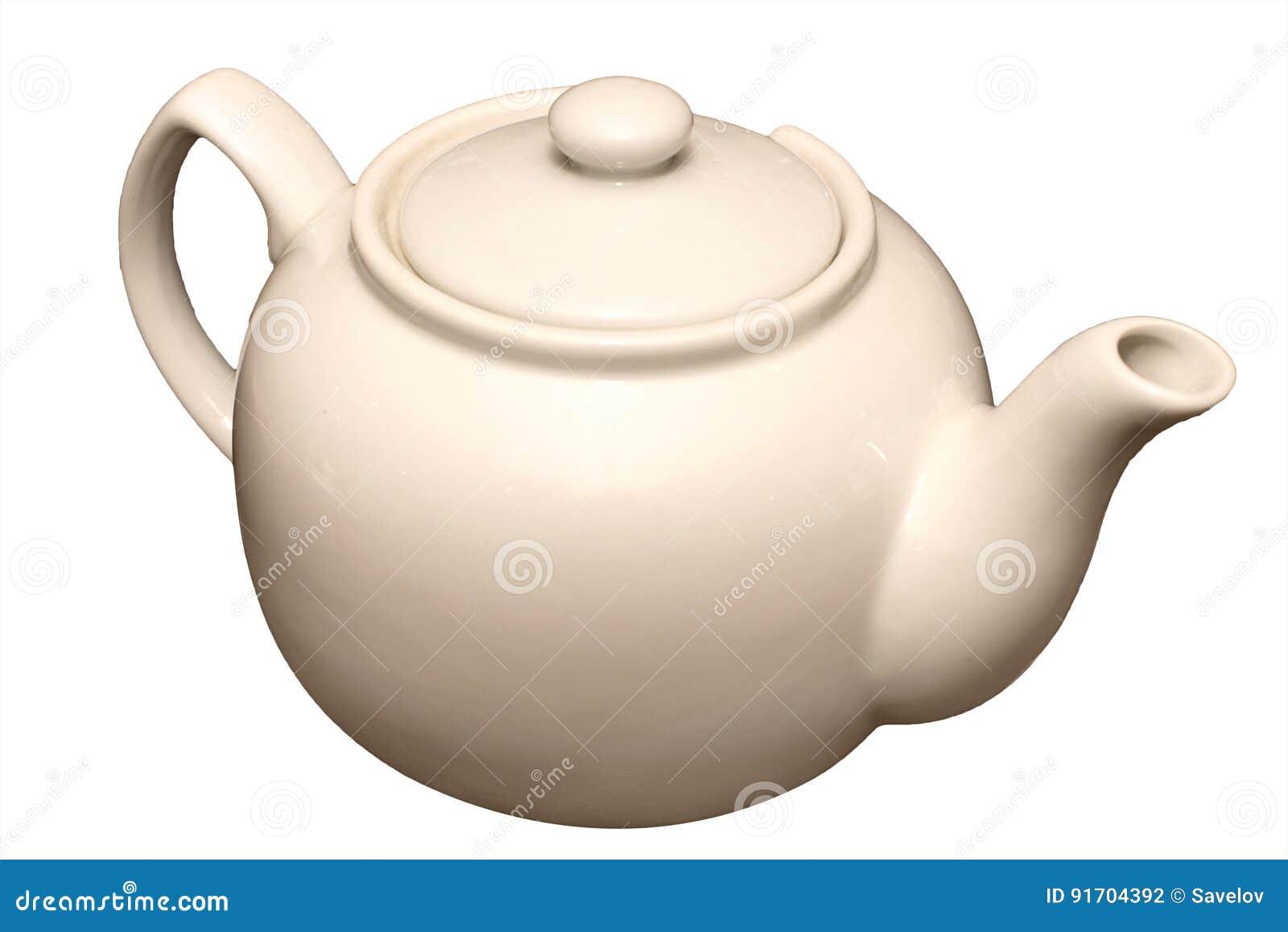Bule da porcelana para o chá isolado