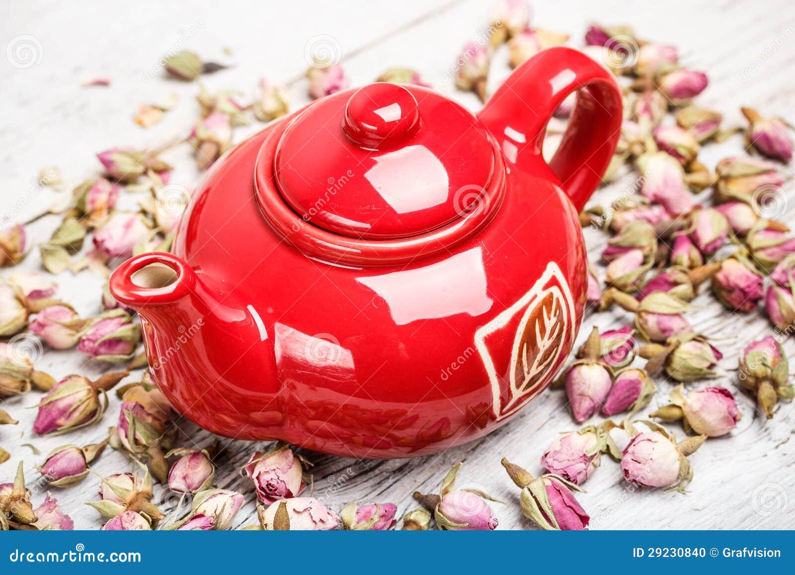 Download Bule vermelho foto de stock. Imagem de tradicional, flor - 29230840