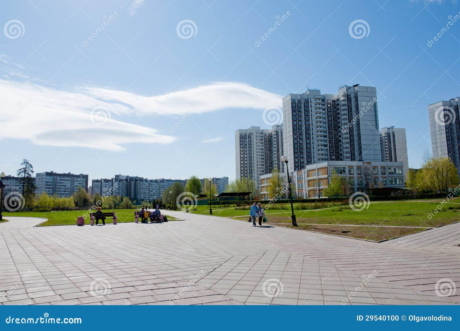 Bulevar de Moscovo na área residencial