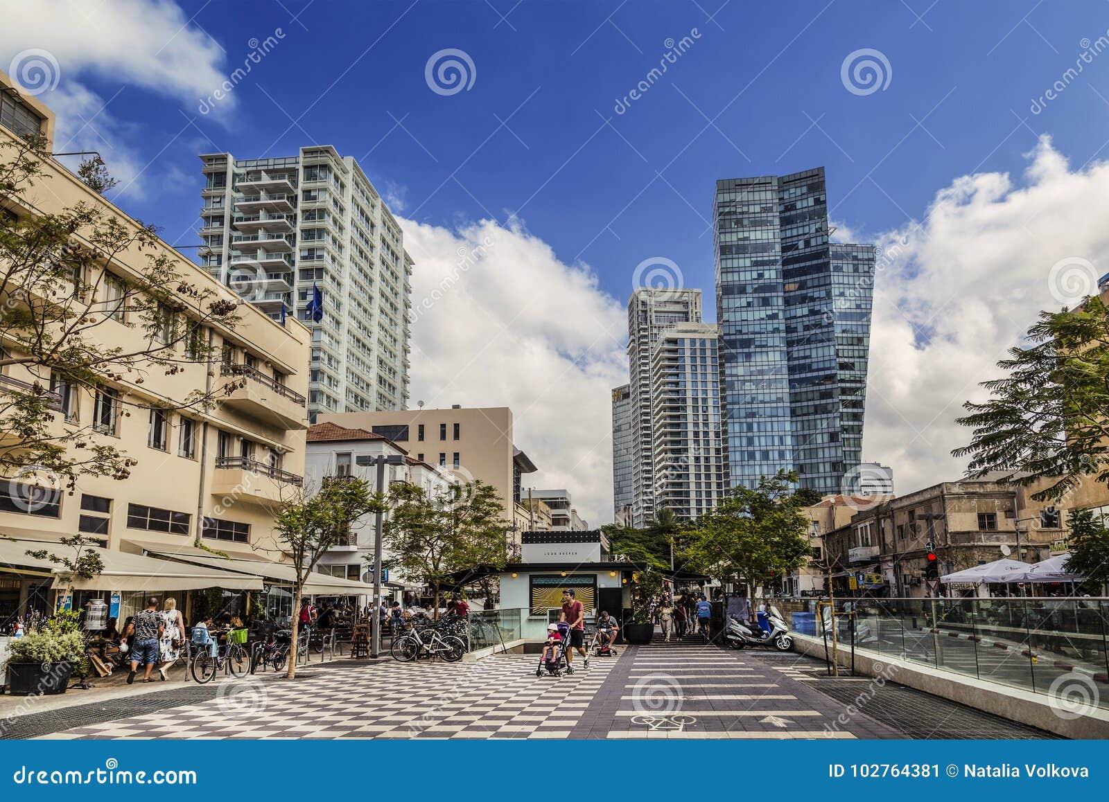 Bulevar de Rothschild em Tel Aviv
