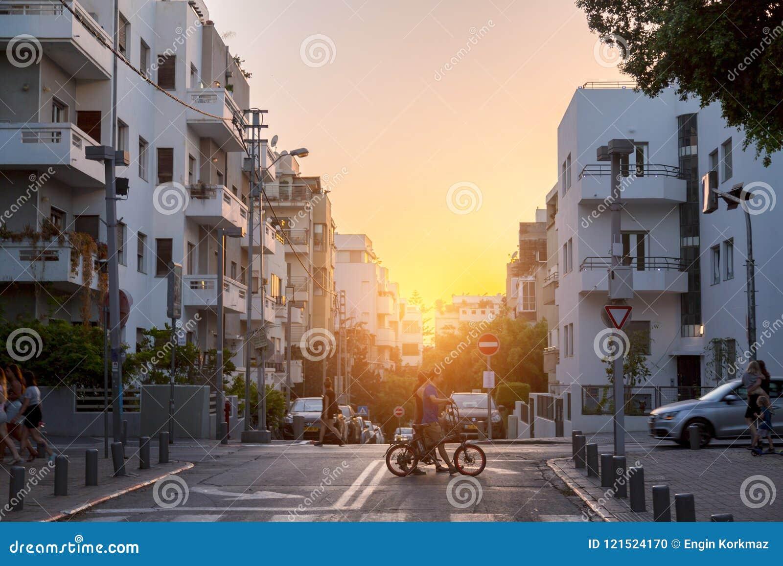 Bulevar de Rothschild em Tel Aviv, Israel