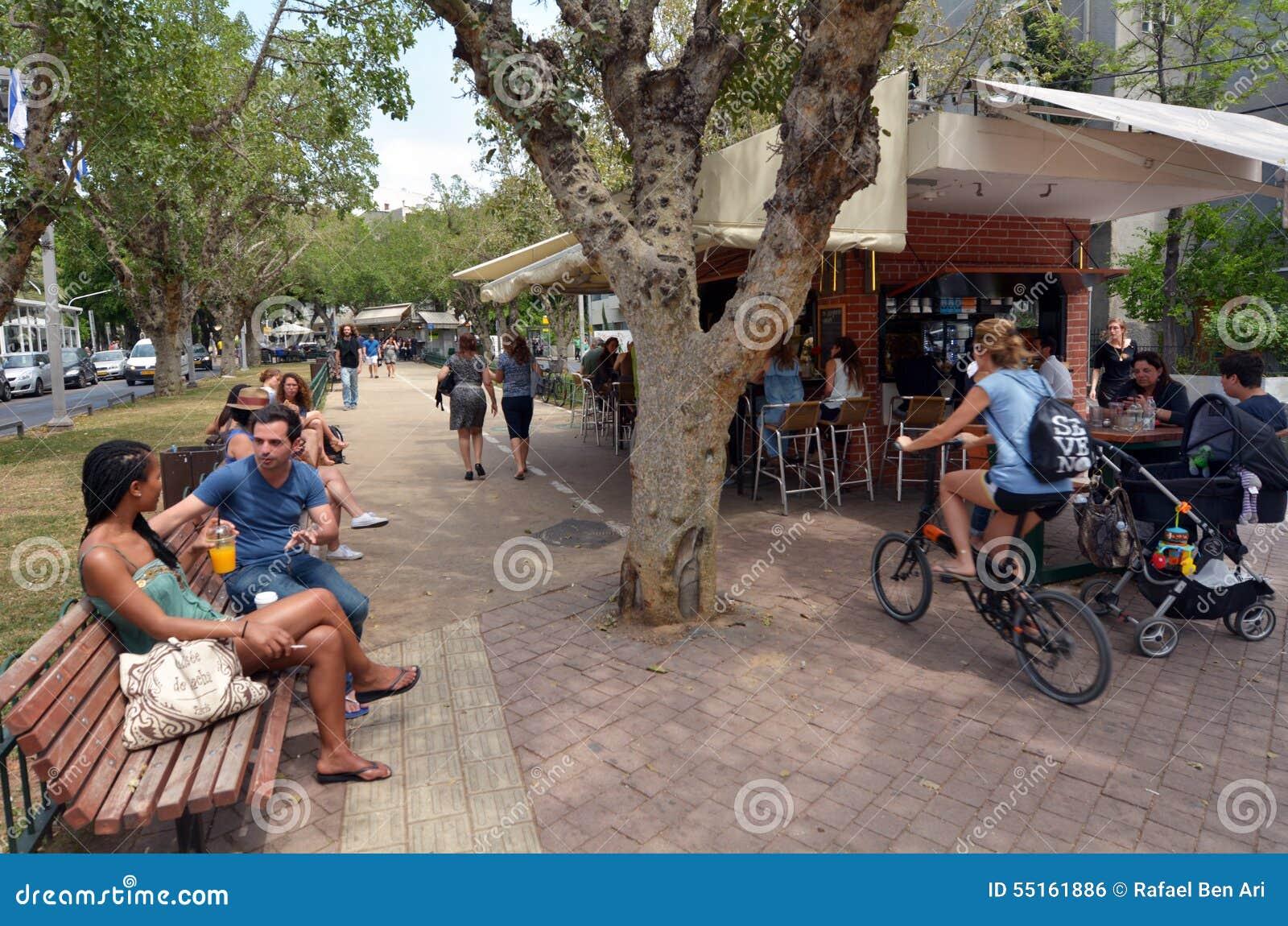Bulevar de Rothschild em Tel Aviv - Israel