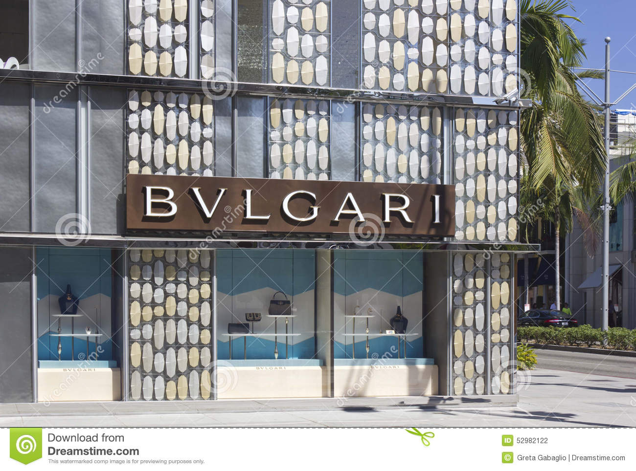 65938c4f8f0 Bulgari Shop In The Famous Rodeo Drive Street Editorial Photography ...