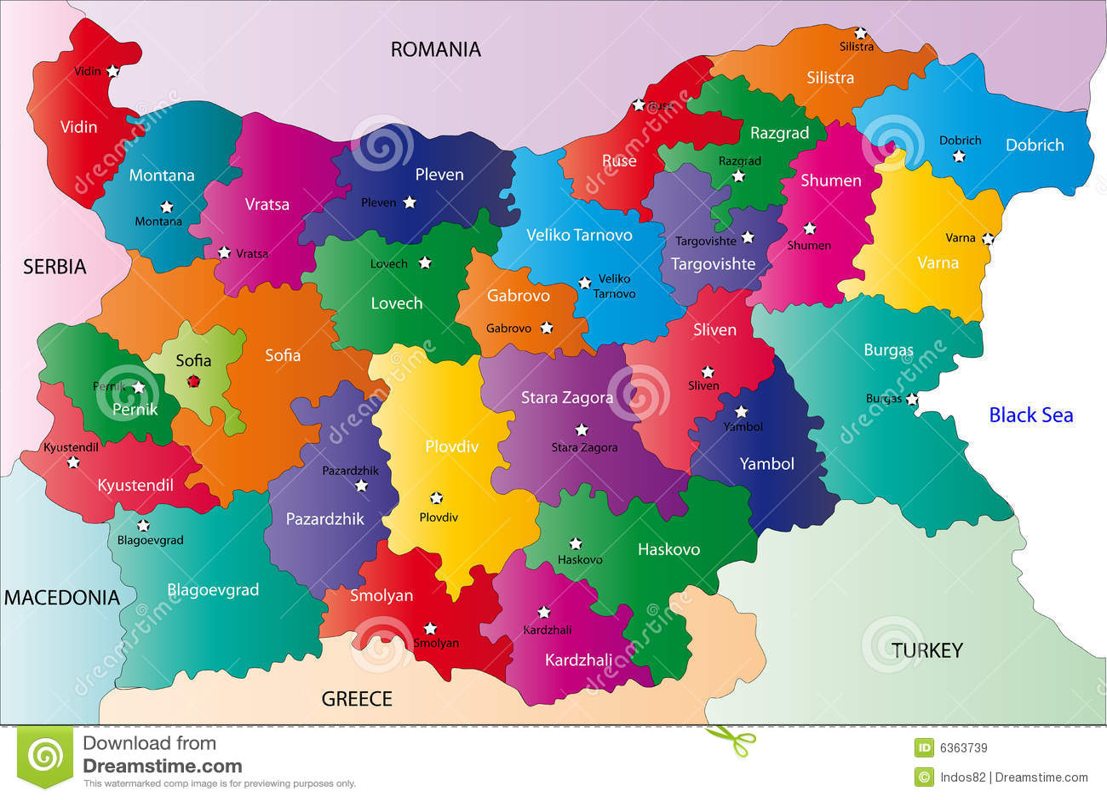 Bulgaria Map Royalty Free Stock Images Image - Bulgaria map
