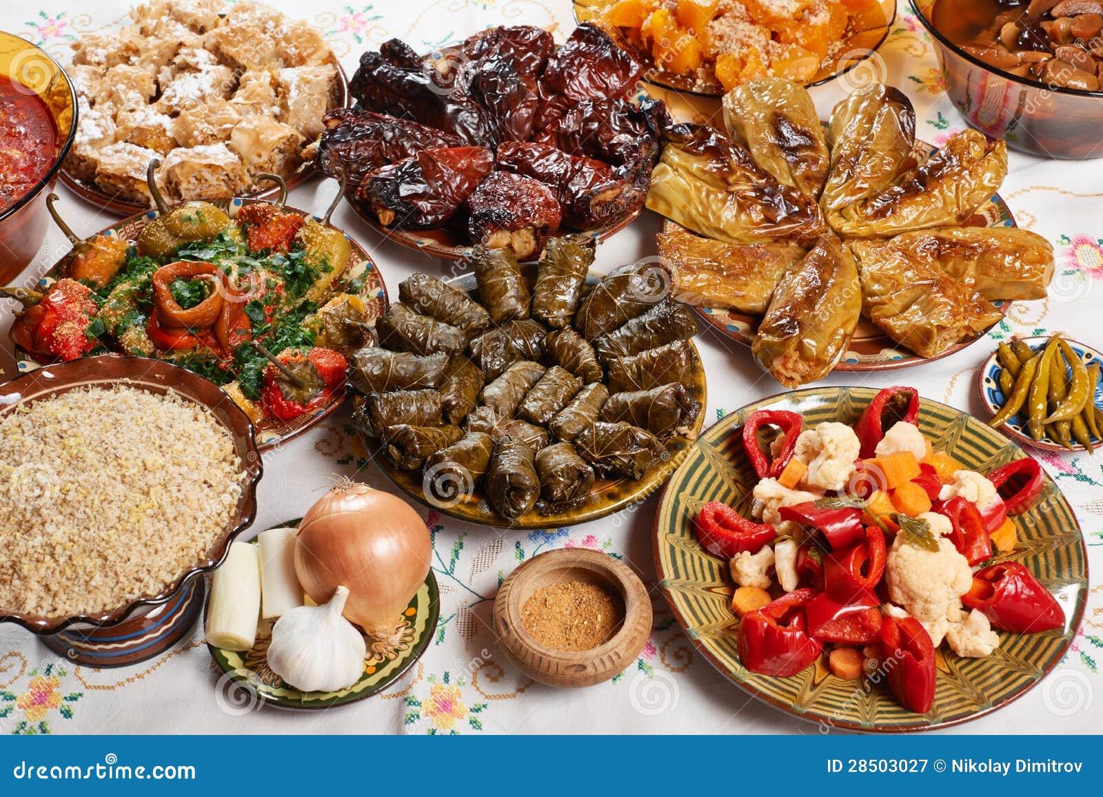 Bulgarian Christmas Food Royalty Free Stock Photography