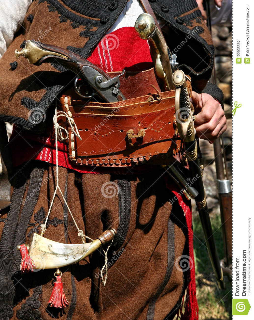 Bulgarian Old Rebel Clothing And Outfit Stock Image Image Of