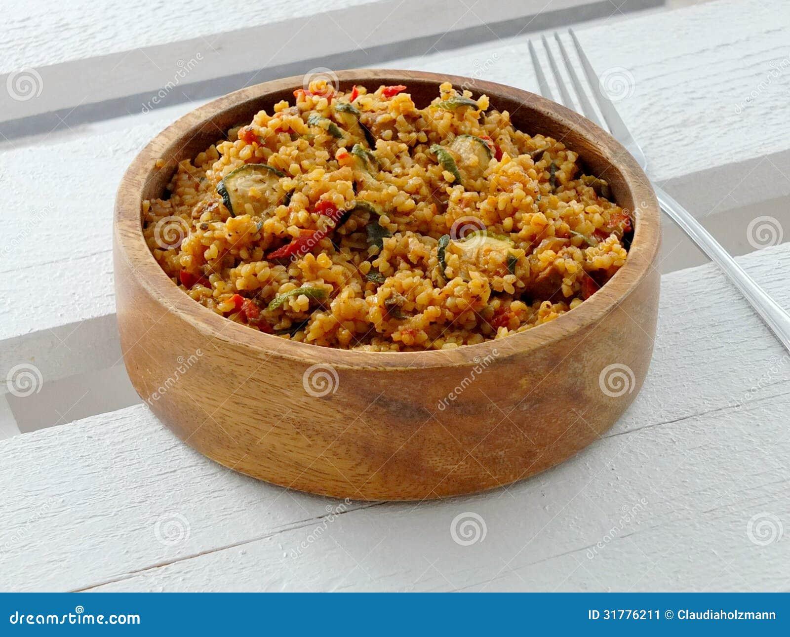 Download Bulgur stock image. Image of courgette, gourmet, turkey - 31776211
