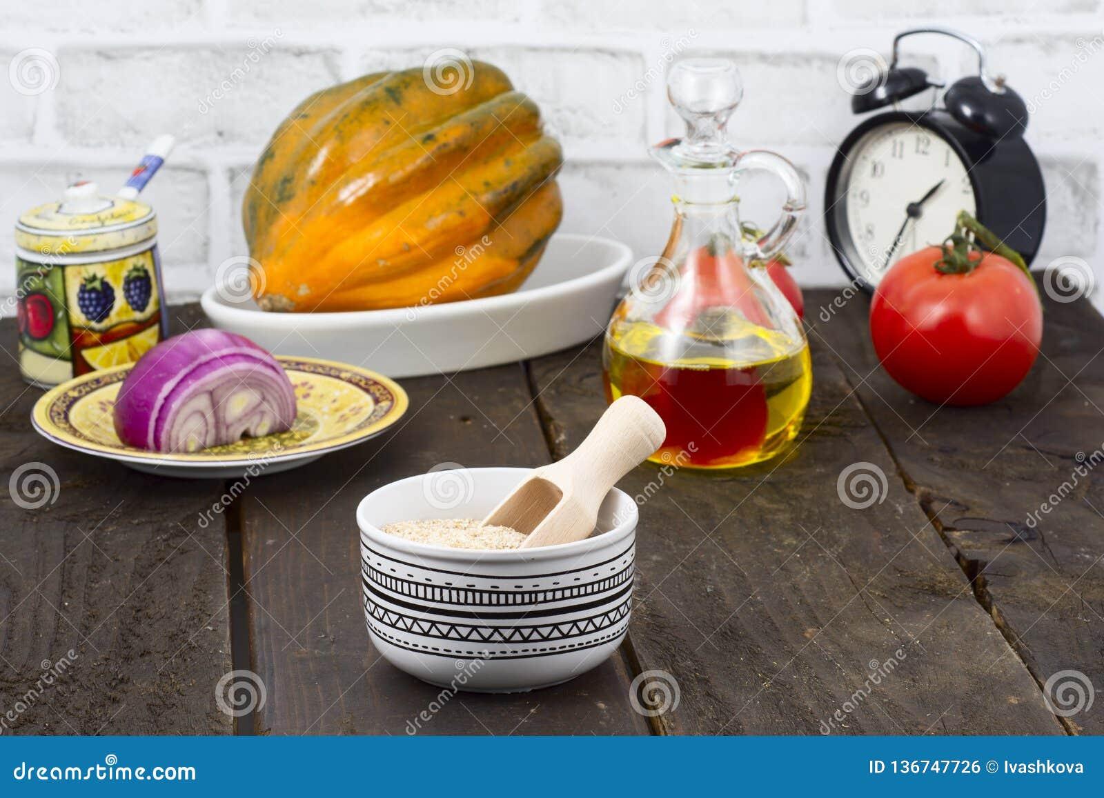 Bulgur and vegetables