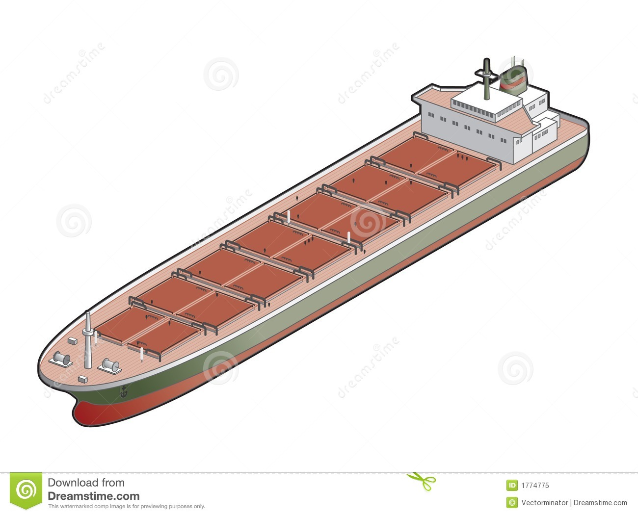 Bulk Carrier Ship Icon Design Elements 41d Royalty Free