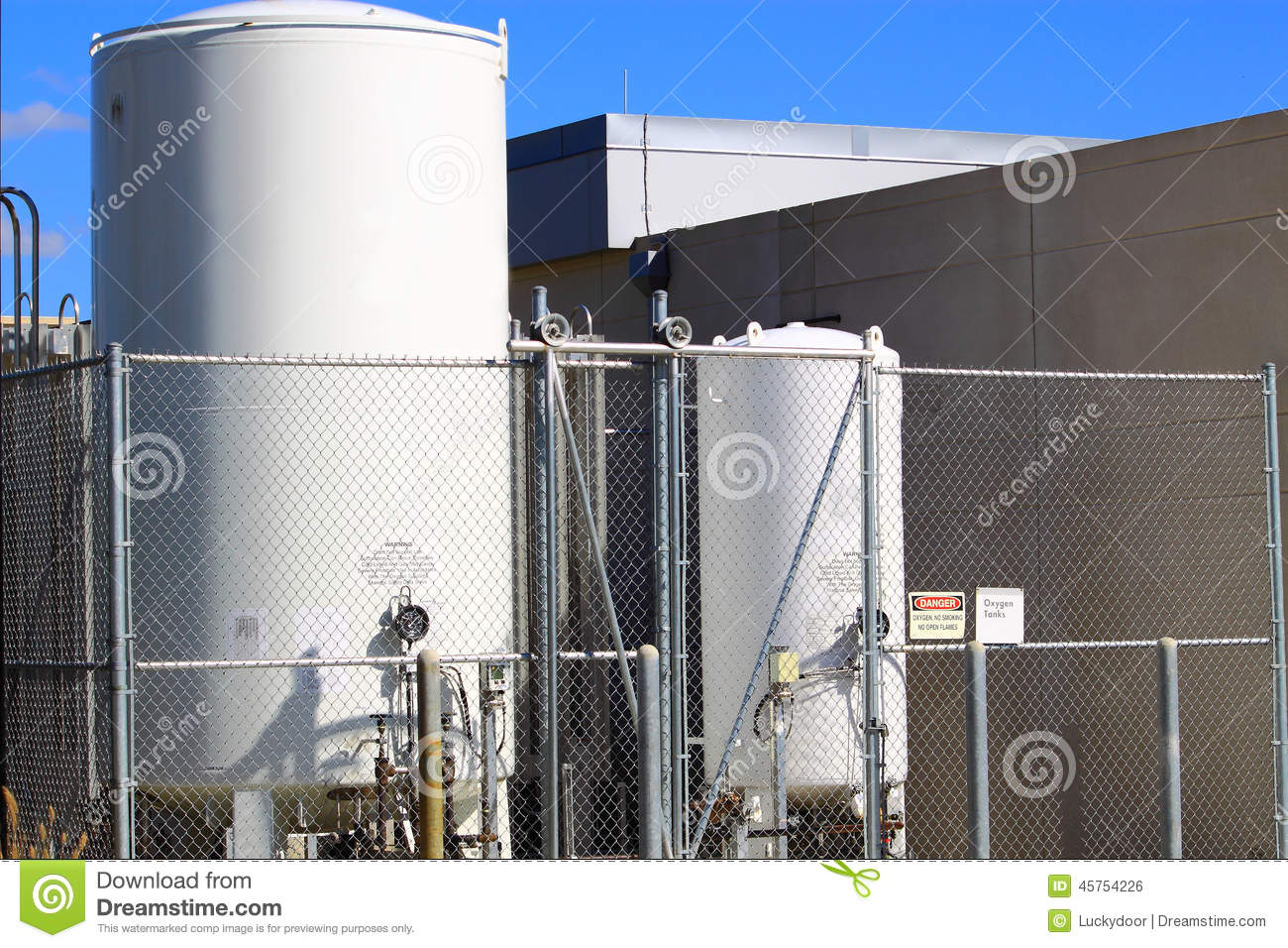 Stock Photo Bulk Oxygen Tanks Medical Installed Hospitals Image45754226 on medical oxygen tanks