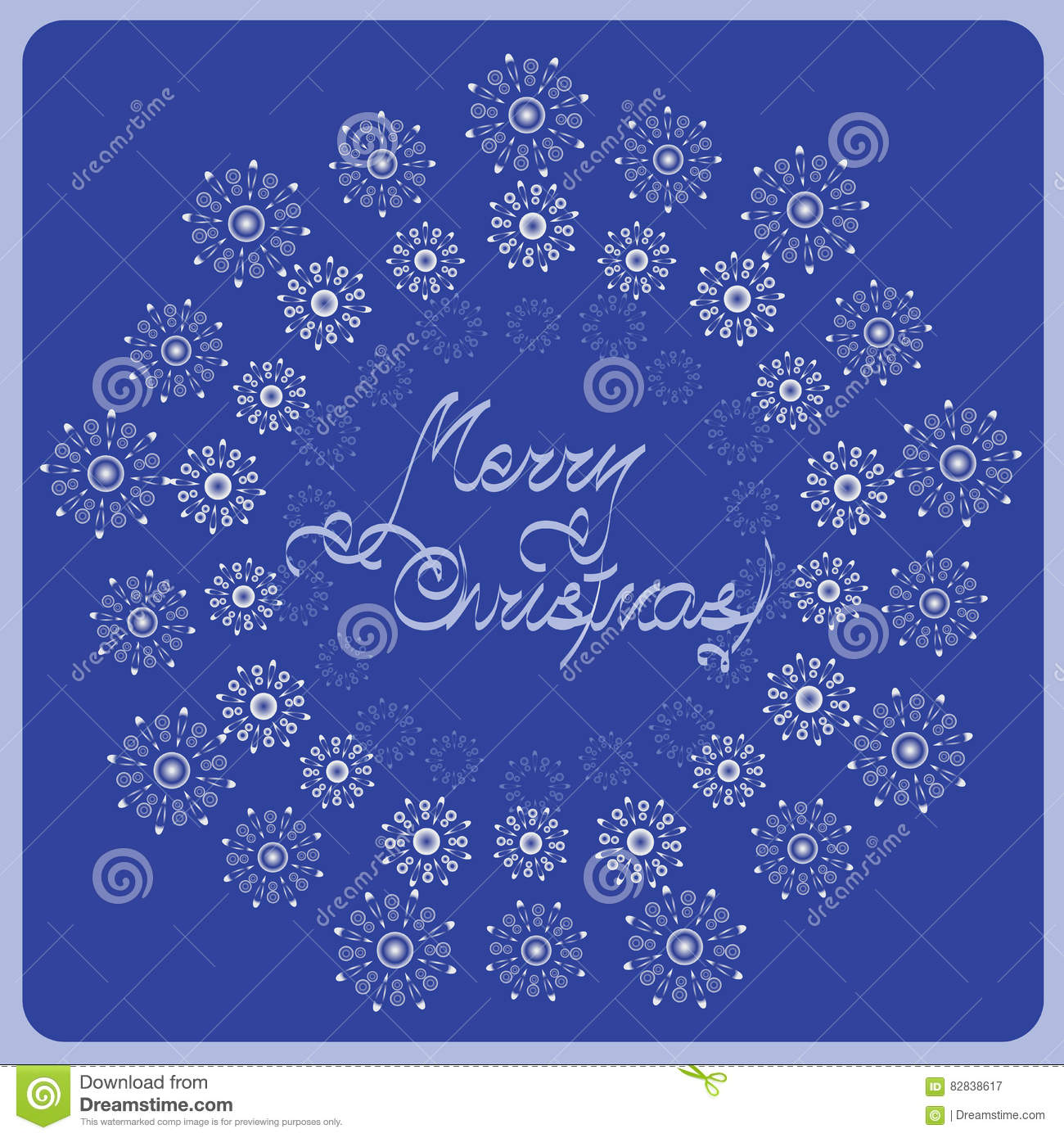 Bulk Silver Snowflakes Stock Vector Illustration Of