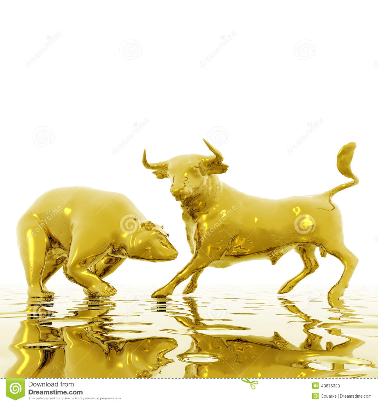 Bull And Bear Stock Illustration Image 43875333