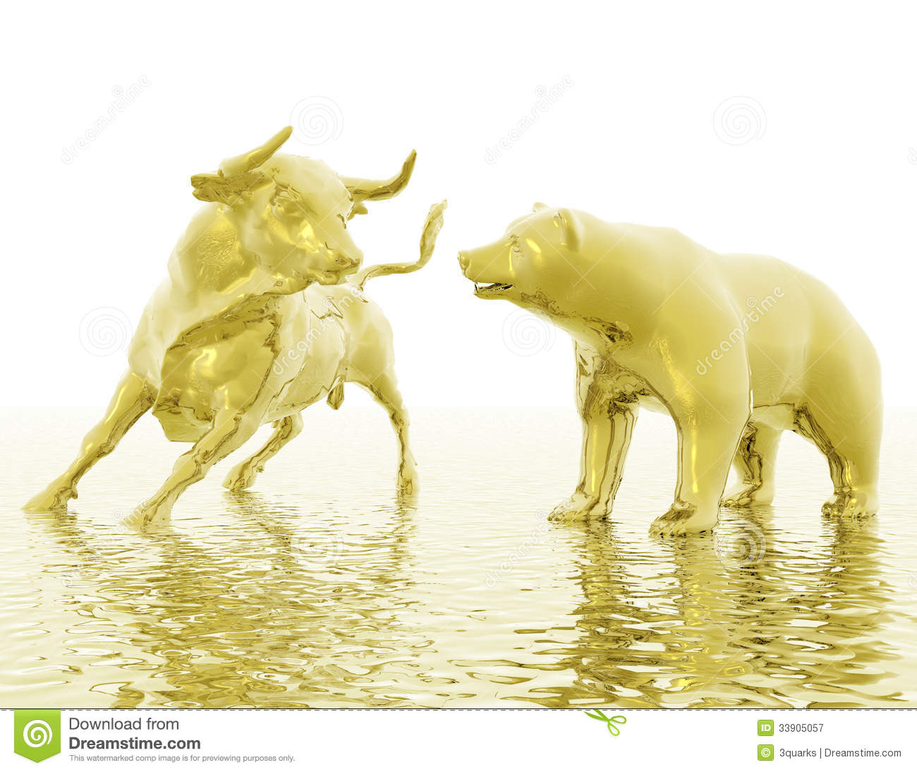 Bull And Bear Royalty Free Stock Photography Image 33905057
